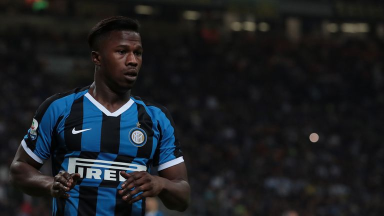 Keita Balde during the Serie A match between FC Internazionale and Empoli FC at Stadio Giuseppe Meazza on May 26, 2019 in Milan, Italy.