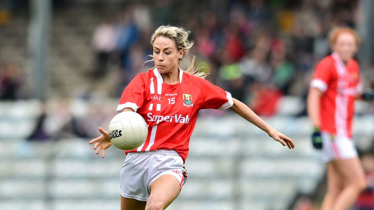 Orla Finn in action during the clash