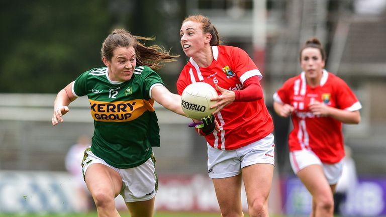 Aishling Hutchings of Cork evades Anna Galvin of Kerry