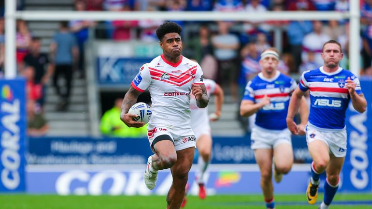 Kevin Naiqama was among the try-scorers for St Helens