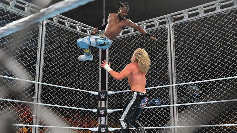 Kofi Kingston made a high-risk manoeuvre in his Steel Cage Match with Dolph Ziggler