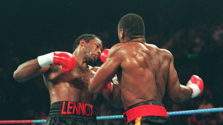 Lennox Lewis is stopped by Oliver McCall in two rounds