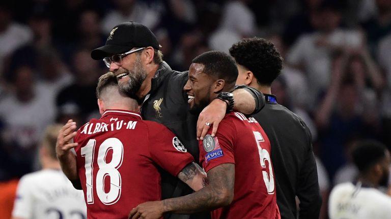 Jurgen Klopp celeb, Champions League final, Liverpool