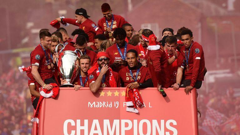 Liverpool parade, Champions League