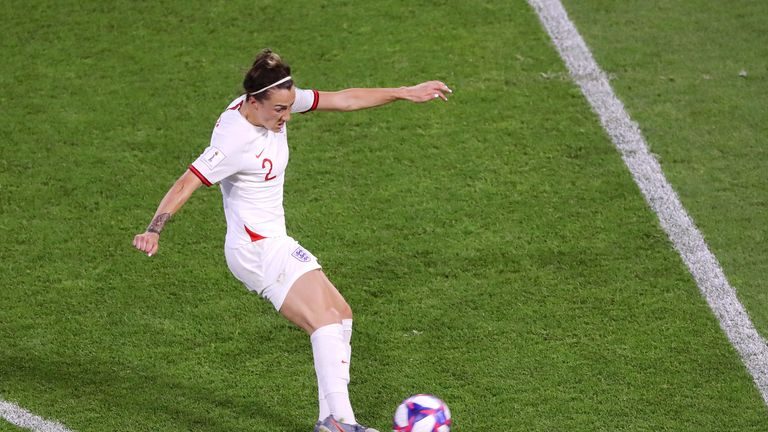 Lucy Bronze scored her first goal since 2018 with a thunderous strike