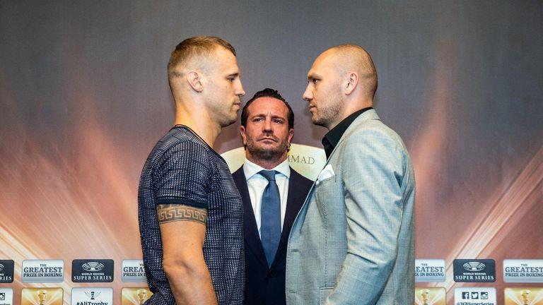 Mairis Briedis and Krzysztof Gowacki ahead of Saturday's unification clash