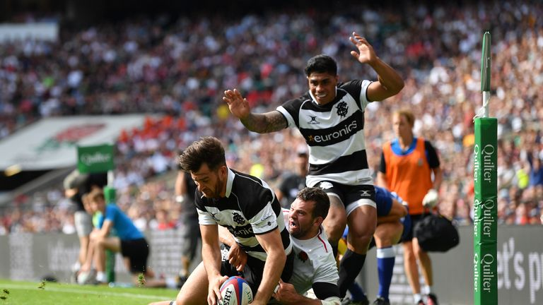 Mark Atkinson notched a couple of tries as the Barbarians got back into things quickly