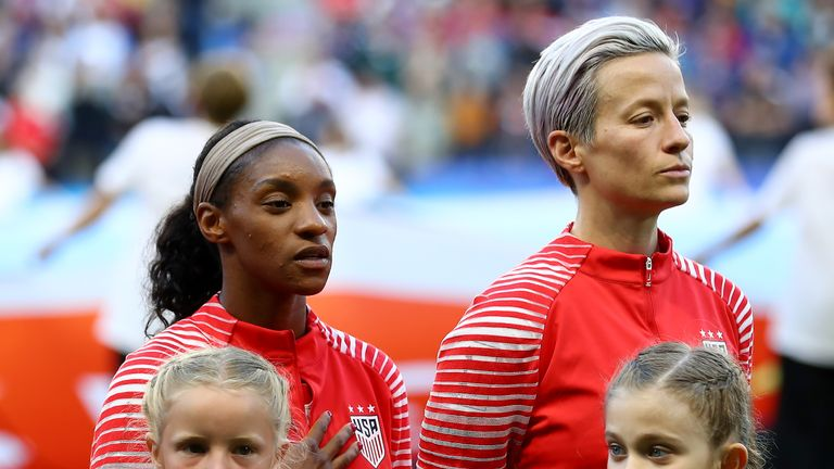 Megan Rapinoe refuses to sing the US national anthem