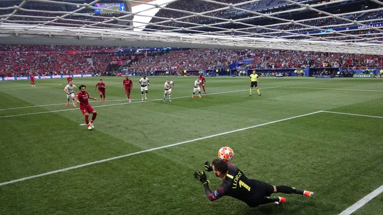 Hugo Lloris could do little about either of Liverpool's goals