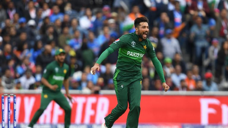 Mohammad Amir has taken 15 wickets in World Cup so far