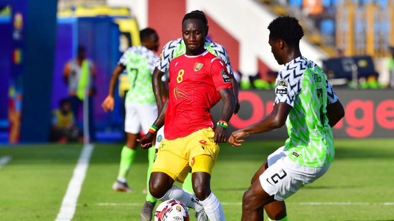 Liverpool midfielder Naby Keita went off injured for Guinea