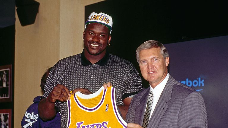Shaquille O'Neal was a key member of the second great Lakers side assembled by West