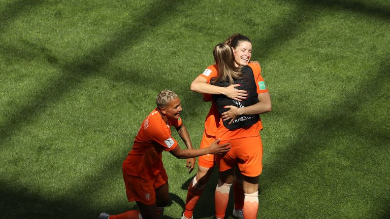 Vivianne Miedema scored twice to become Netherlands' all-time leading goalscorer