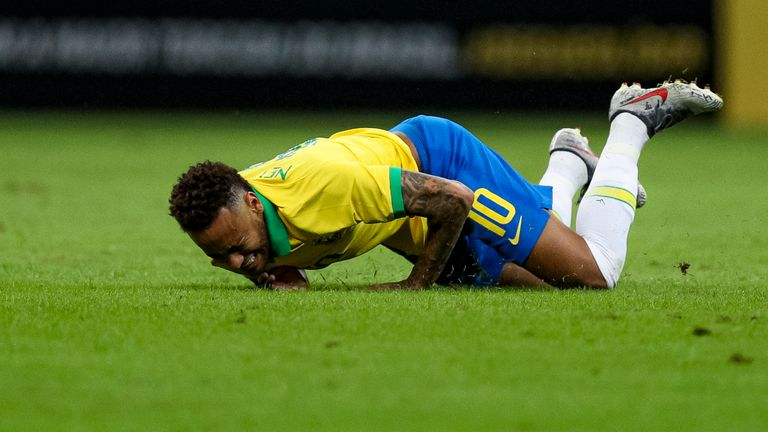 Neymar left the stadium in tears after damaging his ankle and has been replaced in the Brazil squad by Chelsea's Willian