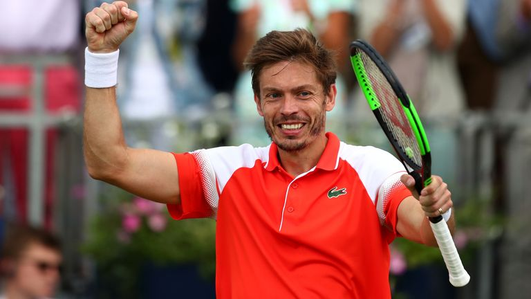 Nicolas Mahut was given a code violation but he stayed cool to beat Stan Wawrinka
