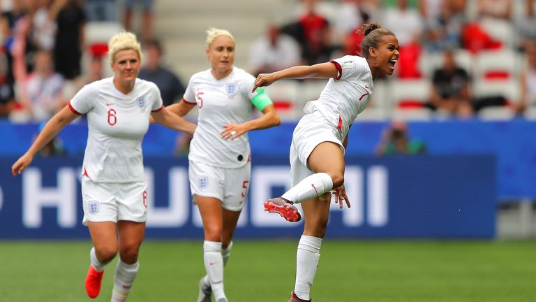 Nikita Parris scored the opening goal for England from the penalty spot