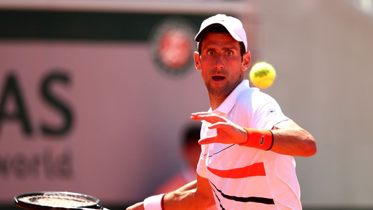 Novak Djokovic booked his 13th appearance in the French Open fourth round