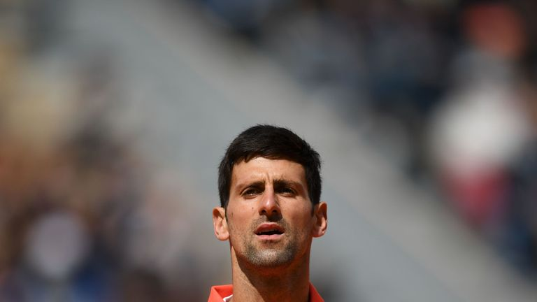 Novak Djokovic lost his first set of this year's French Open against Dominic Thiem