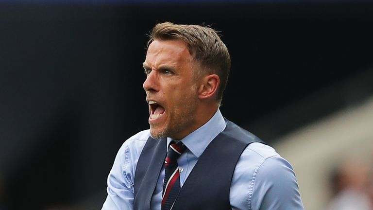 Phil Neville has led England to two wins from two at the World Cup