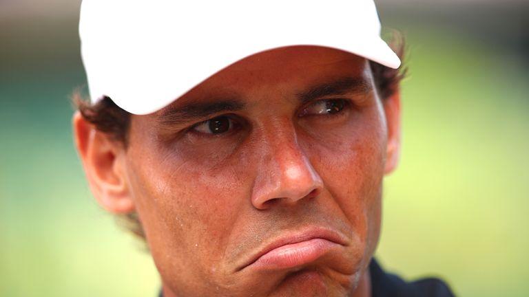 Rafael Nadal speaks to the media before Wimbledon