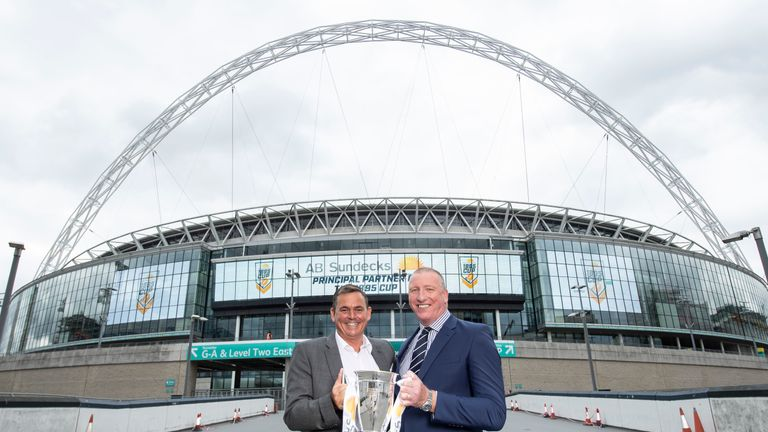 The 1895 Cup final will take place at Wembley on the same day as the Challenge Cup final