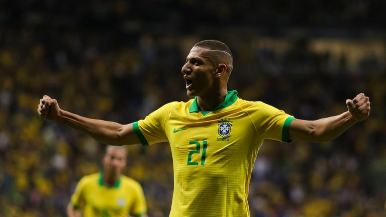 Richarlison scored Brazil's opener in their 2-0 win over Qatar