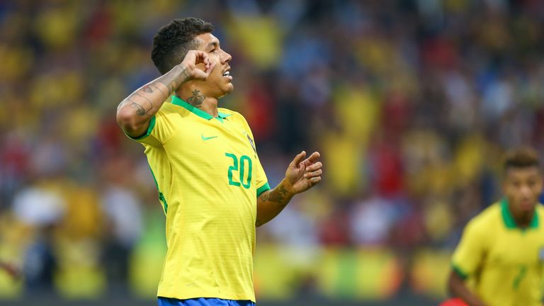 Roberto Firmino came off the bench to score in Brazil's 7-0 thrashing of Honduras