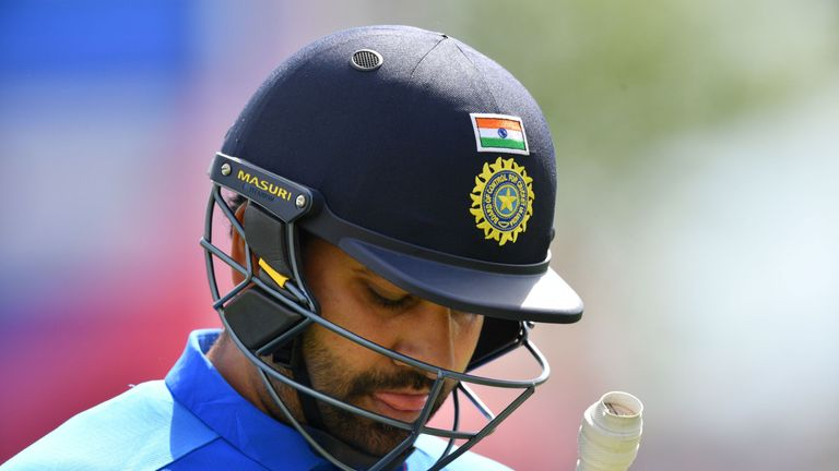 Rohit Sharma was dismissed for one by Mujeeb Ur Rahman