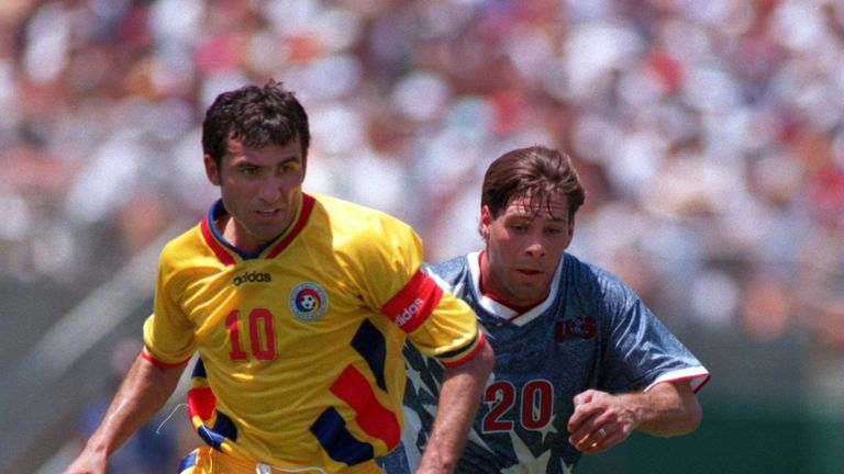 Hagi helped Romania to the World Cup knockout stages in 1990, 1994 and 1998