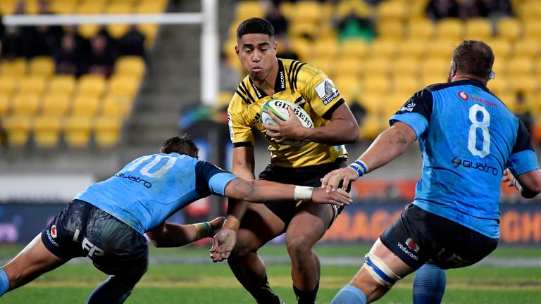 Salesi Rayasi had an eventful game for the Hurricanes in their Super Rugby quarter-final