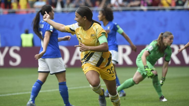 Tim Cahill tweeted he was 'loving' Sam Kerr's celebration