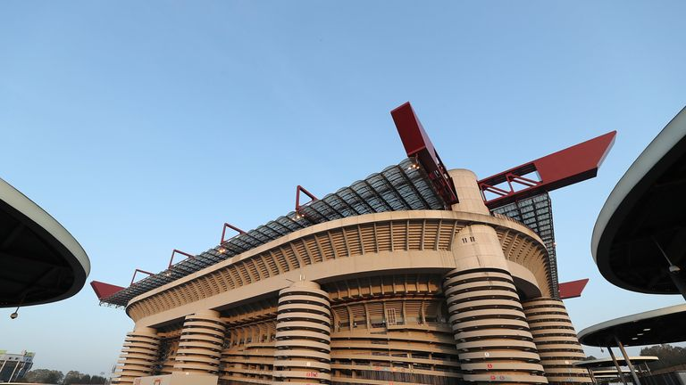 The San Siro was opened in 1926 and is home to both AC and Inter Milan