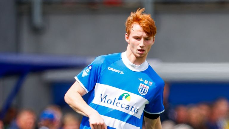 Sepp van den Berg of PEC Zwolle during a Dutch Eredivisie match against VVV Venlo