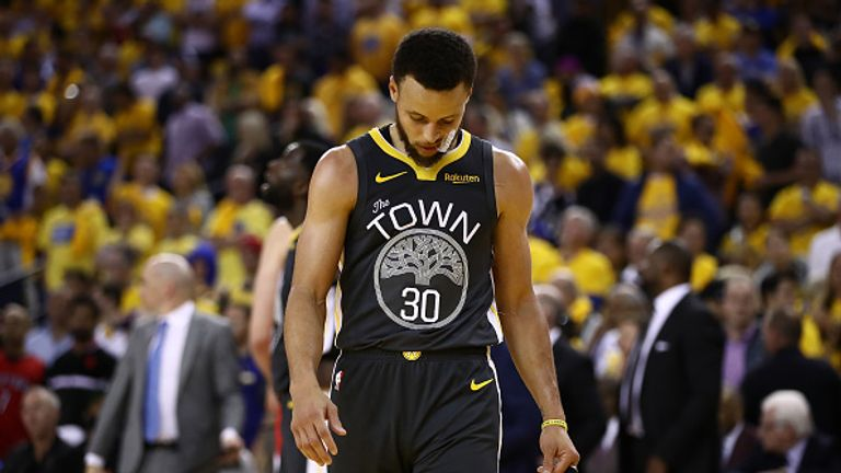 Steph Curry endured an off-night as they Warriors suffered defeat in front of their own fans