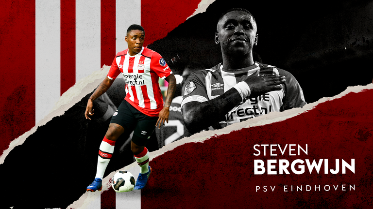 PSV Eindhoven forward Steven Bergwijn has been linked with a summer move