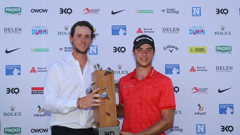 Migliozzi was presented the trophy by tournament host Thomas Pieters