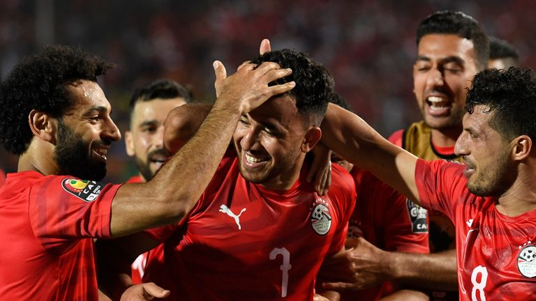 Trezeguet scored the only goal of the game for Egypt