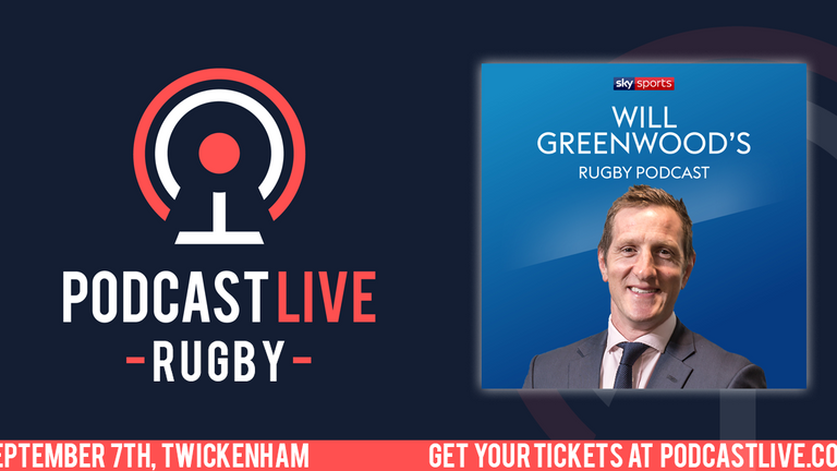 The Will Greenwood podcast will be live at Twickenham on September 7