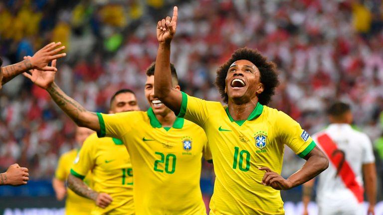 Willian hit the last of Brazil's five goals