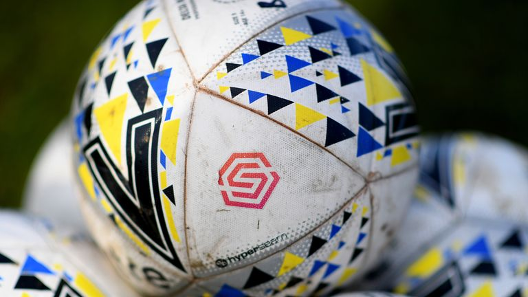 BRISTOL, ENGLAND - JANUARY 27: A detailed view of the match balls prior to the FA Women's Super League match between Bristol City Women and Yeovil Town Ladies at Stoke Gifford Stadium on January 27, 2019 in Bristol, England. (Photo by Alex Davidson/Getty Images)
