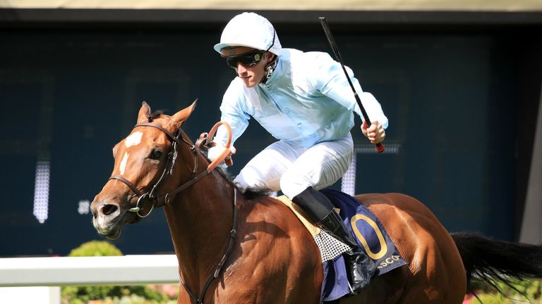 Watch Me ridden by Pierre-Charles Boudot wins the Coronation Stakes