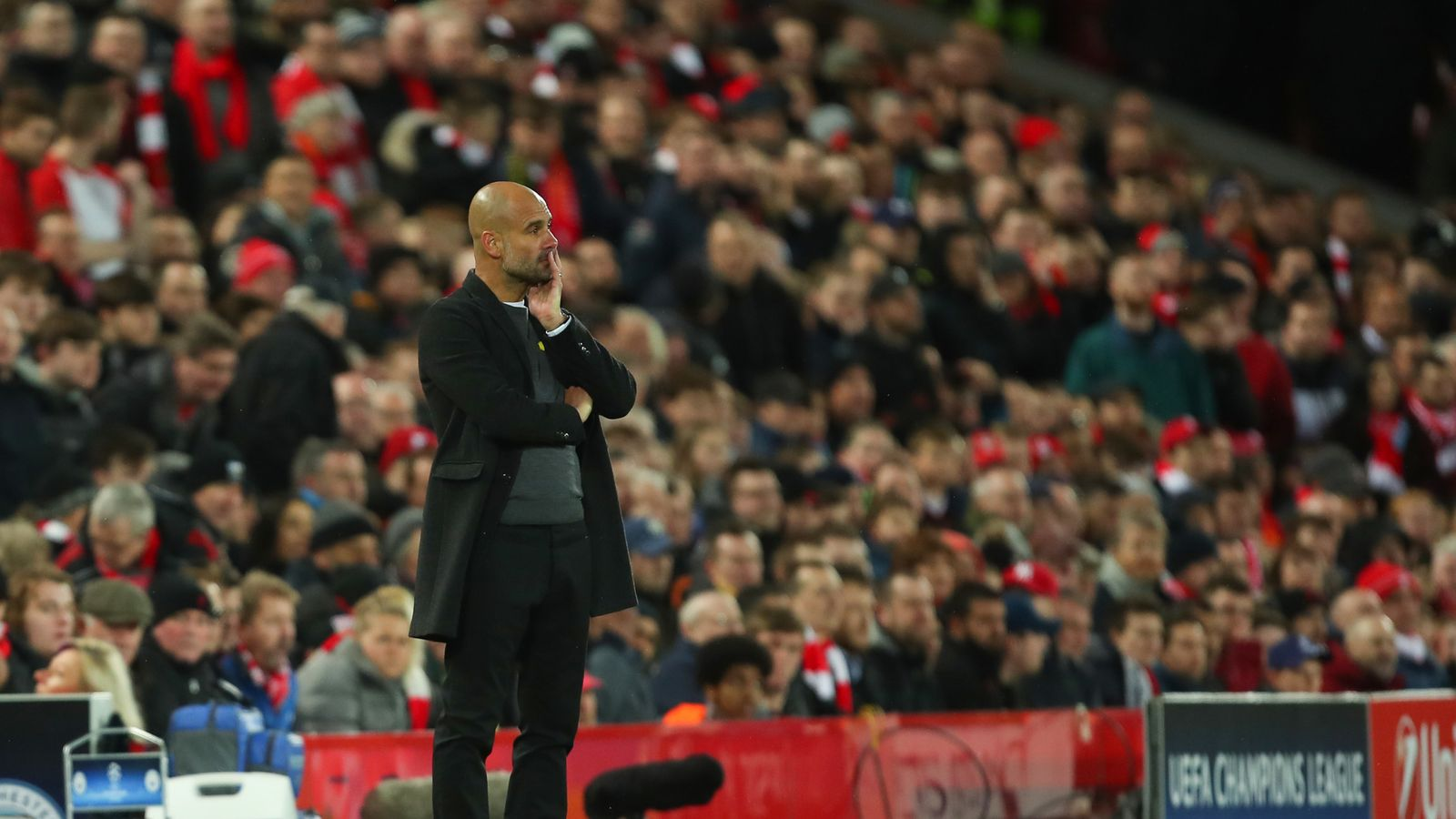 Pep Guardiola Says Anfield Is Like No Other Stadium In The World Football News Sky Sports