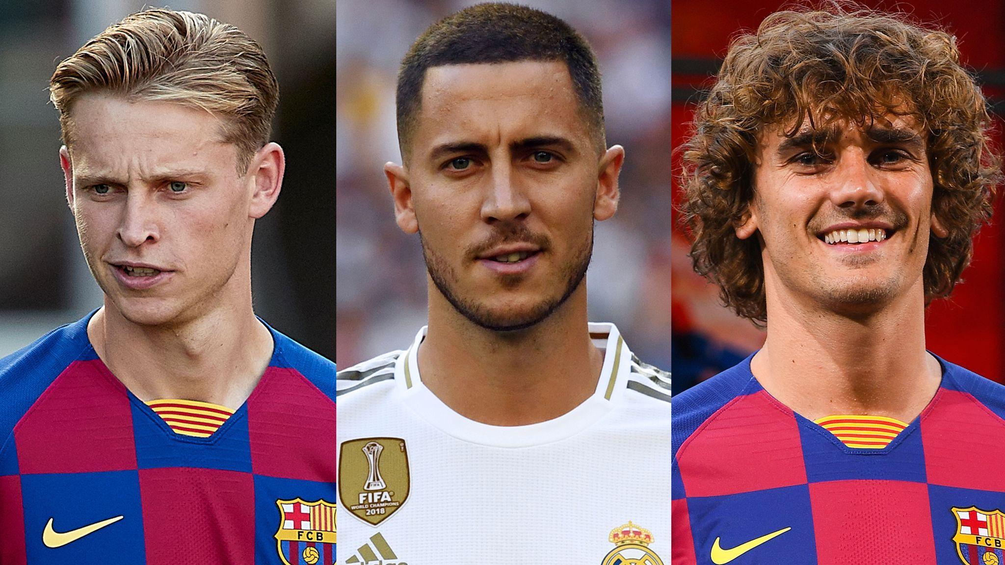 Antoine Griezmann And Eden Hazard Arrive In Barcelona And