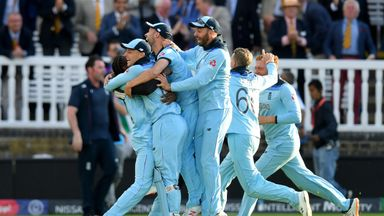 England celebrate winning the 2019 ICC Cricket World Cup