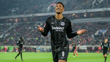 Frankfurt striker Sebastien Haller is close to a move to West Ham - Sky sources
