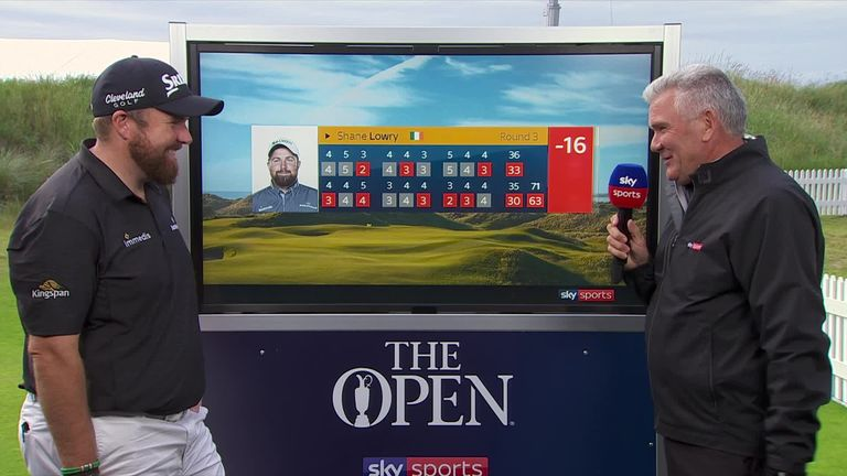 Shane Lowry couldn't believe the superb day he's had after the Irishman leads The Open Championship with an incredible score of 63 after day three that leaves him four ahead on -16.