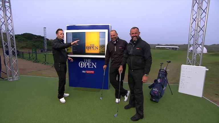 Sky Sports' Andrew Coltart took on the 148-yard Open Zone challenge and things didn't exactly go to plan for him...