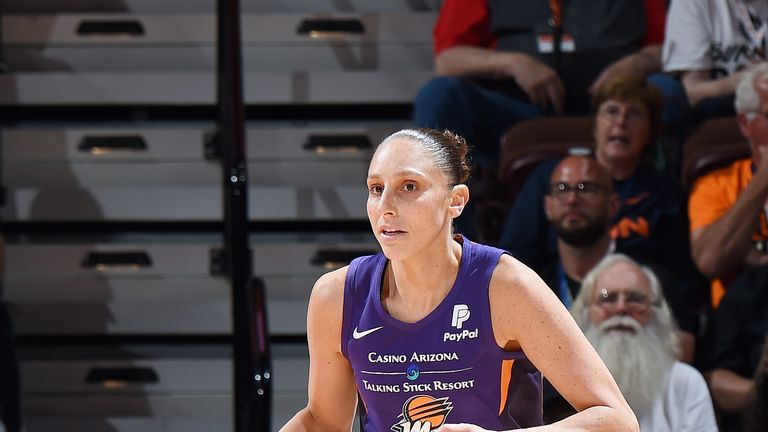 Diana Taurasi in action on her return from injury