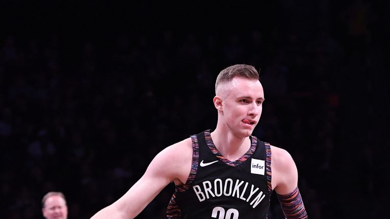 Dzanan Musa in action for the Brooklyn Nets