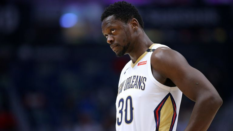 Julius Randle in action for the New Orleans Pelicans